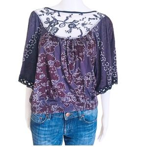 LANGUAGE LOS ANGELES (Nordstrom). Lace. Top/Blouse
